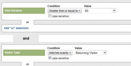 Google Analyitics Advanced Segment