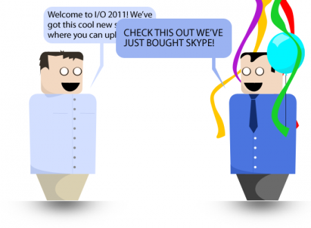 Music in the cloud, and buying Skype