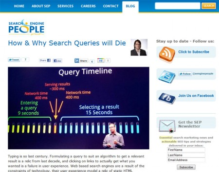 How and why search queries will die