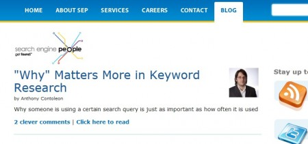 Intent and Keyword Research on Search Engine People