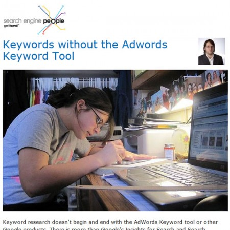 Keywords without the Adwords Keyword Tool