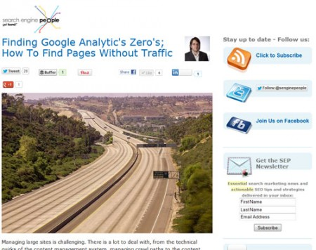 Finding Google Analytic's Zero's; How To Find Pages Without Traffic