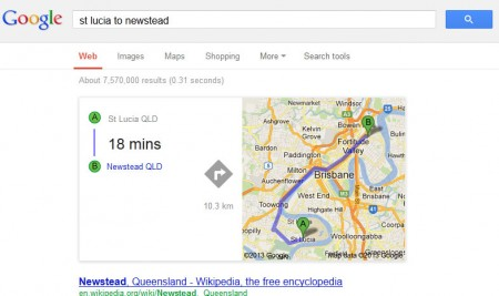 Travel times and distance in your SERPs